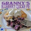 My Granny's Blueberry Quickie Pie Recipe from Sparkles of Sunshine...so yummy and easy to make!