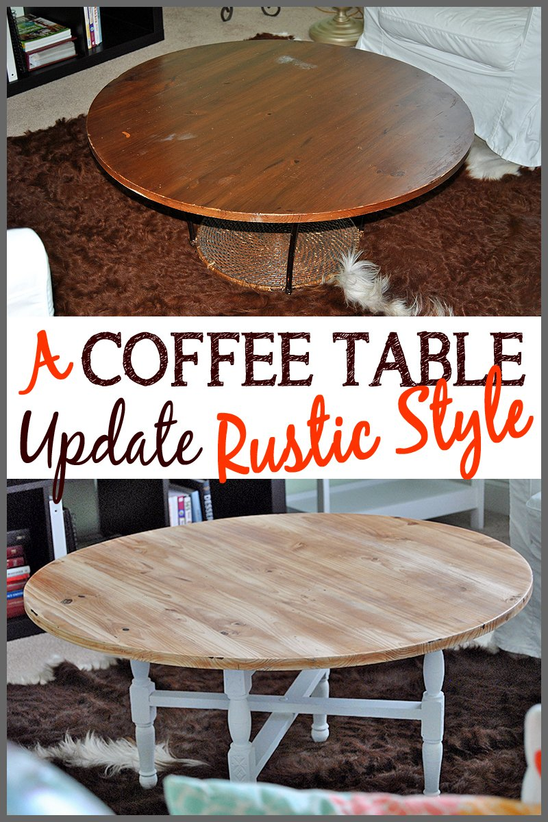 A Coffee Table Update Rustic Style Sparkles Of Sunshine