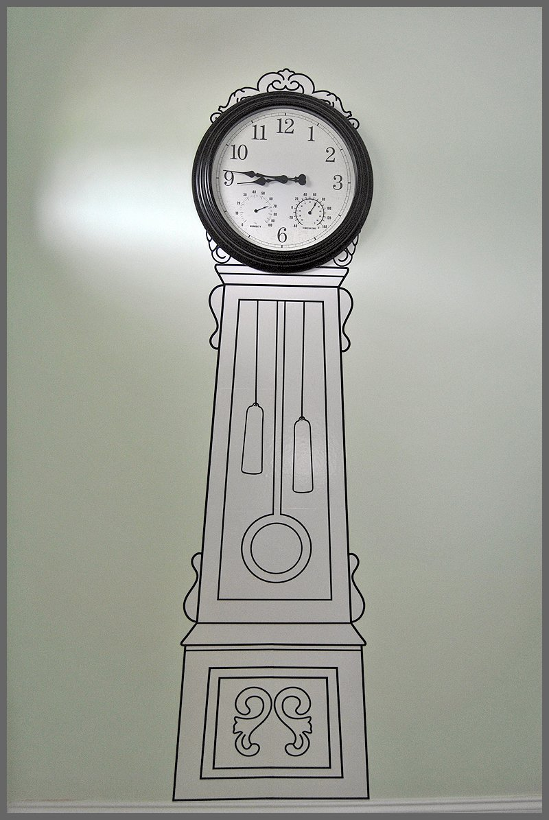 Ikea painted clock sparkles of sunshine no money for a grandfather clock check out this affordable optione amipublicfo Image collections