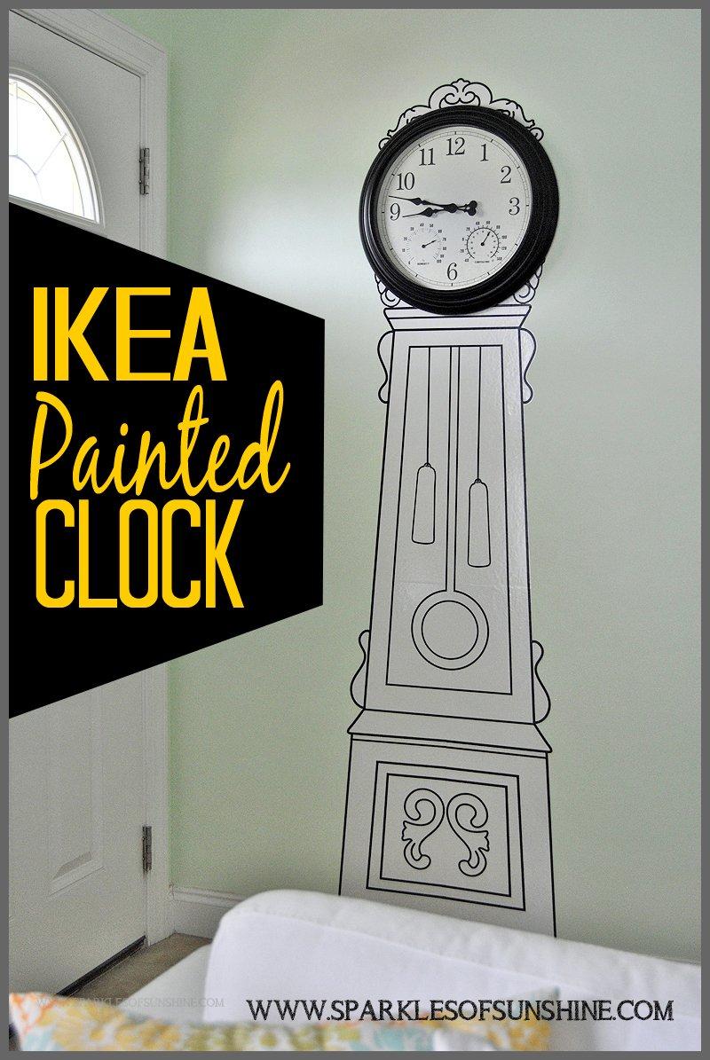 IKEA Painted Clock Sparkles of Sunshine