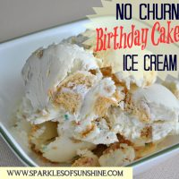 Love the taste of birthday cake? Then you'll love this easy to make No Churn Birthday Cake Ice Cream recipe from Sparkles of Sunshine!