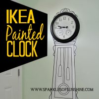 No money for a grandfather clock? Check out this affordable option...the IKEA painted clock!