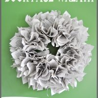 Make a book page wreath in just 3 easy steps, a simple tutorial at Sparkles of Sunshine.
