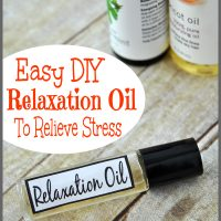 Feeling anxious or stress? Make this easy DIY relaxation oil to relieve stress from your life today! Find the simple recipe at Sparkles of Sunshine.