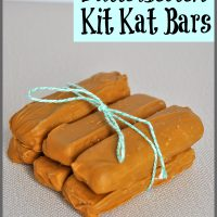 Easy to make homemade Butterscotch flavored Kit Kat Bars from Sparkles of Sunshine!