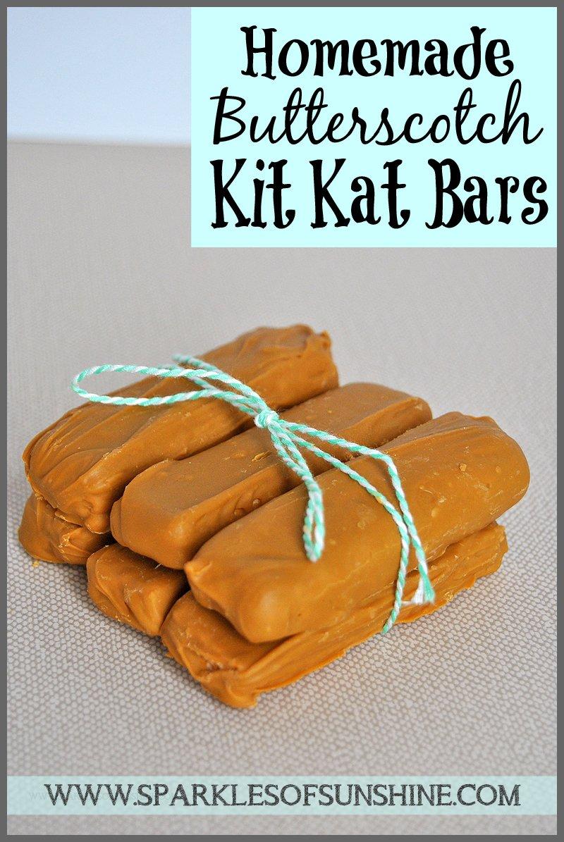 Homemade Butterscotch Kit Kat Bars - Sparkles of Sunshine
