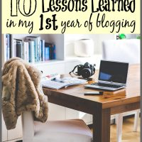 The top 10 lessons learned in the first year of blogging at Sparkles of Sunshine.