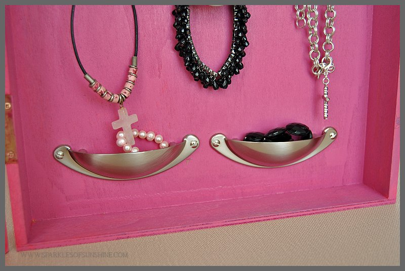 Shadowbox Jewelry Organizer Sparkles of Sunshine