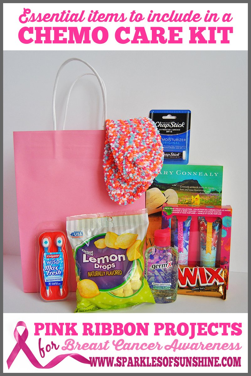 The perfect gift for a cancer fighting friend is a chemo care kit. What should
