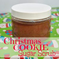 Save money this holiday season and make your own gifts. This Christmas Cookie Sugar Scrub is simple to make, and all ingredients can be found in your pantry!