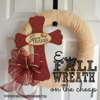 You don't have to break the bank with an expensive fall wreath. Instead, learn how to make an easy fall wreath on the cheap at Sparkles of Sunshine.