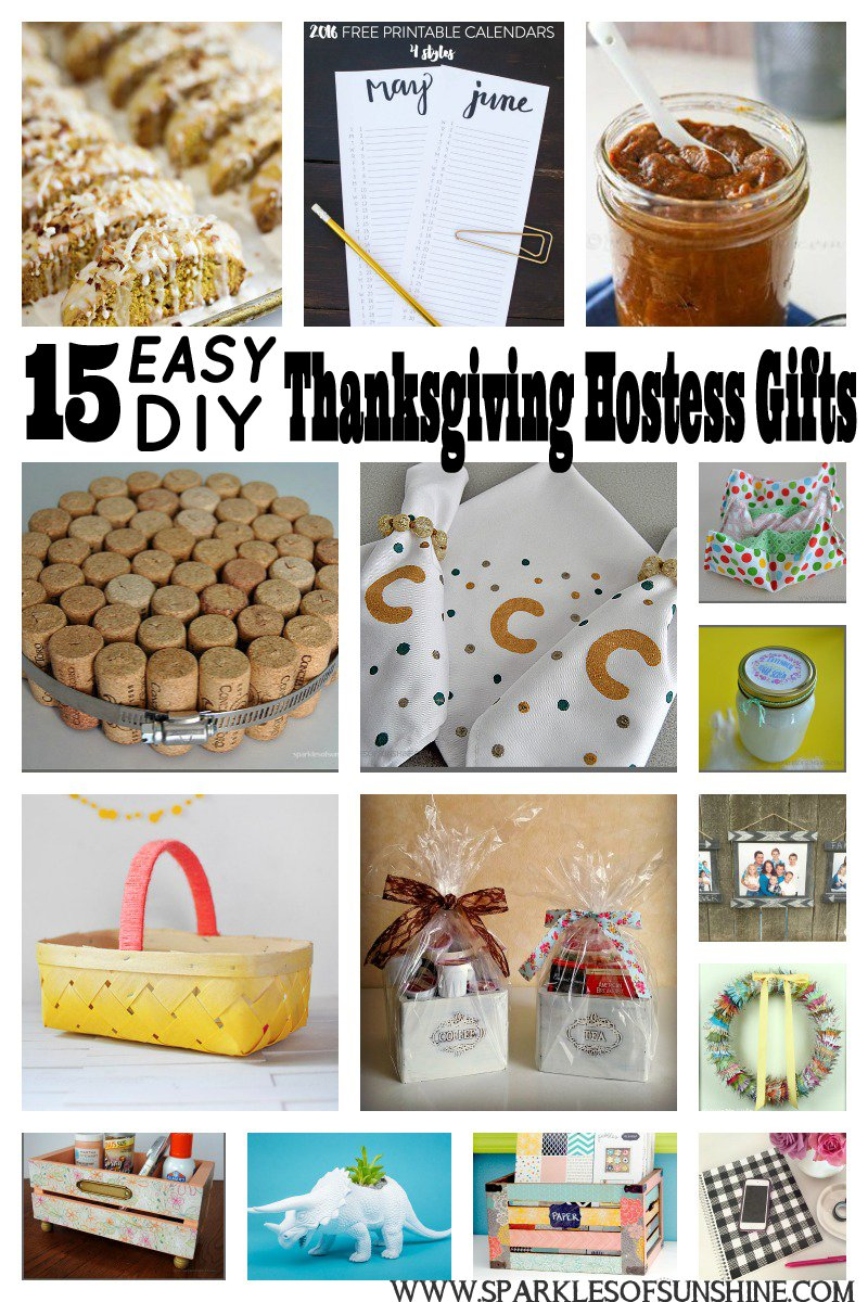Host Gift Ideas 15 easy diy thanksgiving hostess gifts - sparkles of sunshine