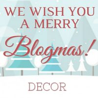 Share your holiday decor items at the Blogmas Link Party!