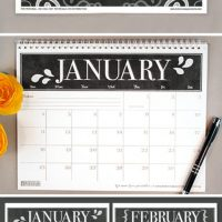 Botanical Paperworks free printable 2016 Calendars