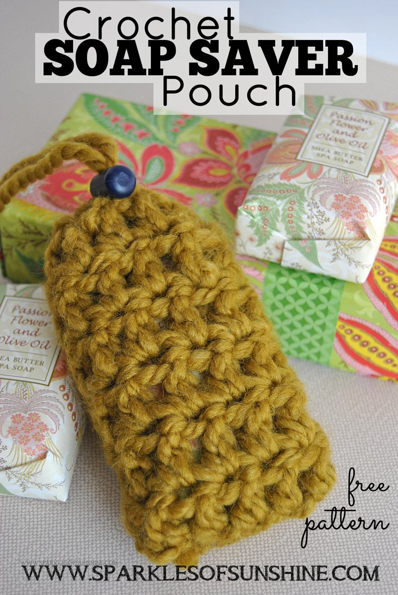 Crochet soap saver pouch pattern sparkles of sunshine make this great gift idea a crochet soap saver pouch find the free crochet bankloansurffo Gallery