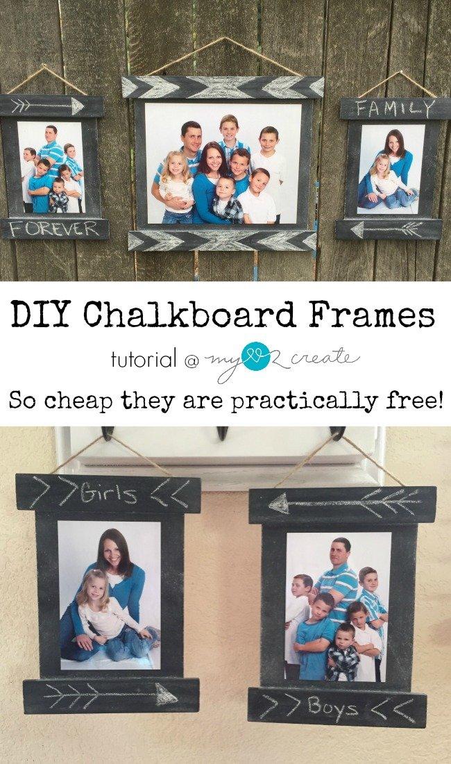 15 easy diy thanksgiving hostess gifts sparkles of sunshine diy chalkboard frames mylove2create solutioingenieria Choice Image