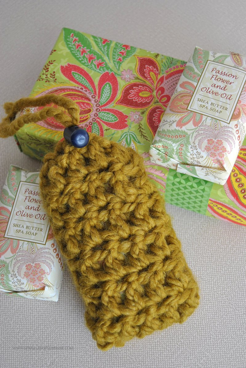 Crochet Soap Saver Pouch Pattern - Sparkles of Sunshine