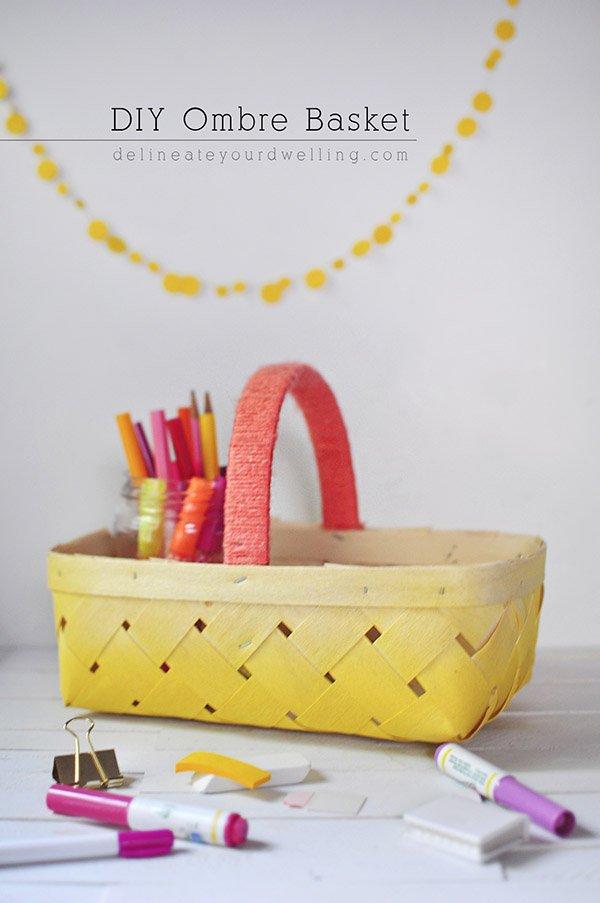 15 easy diy thanksgiving hostess gifts sparkles of sunshine diy ombre basket solutioingenieria Choice Image