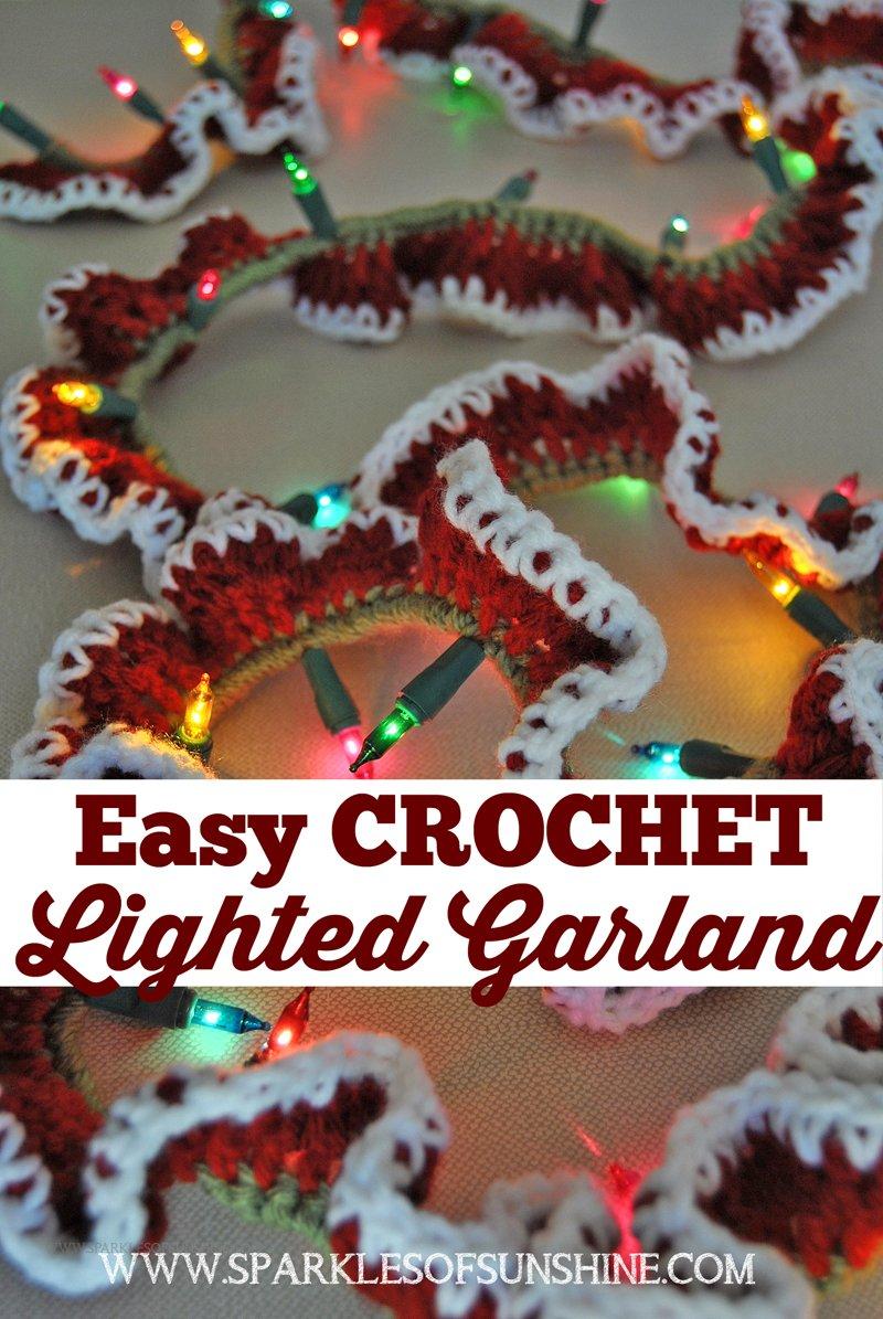 Easy Crochet Lighted Garland Sparkles Of Sunshine