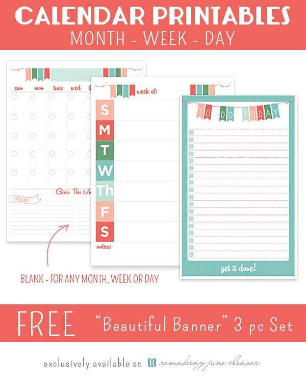 Free Printable  Planners  Calendars  Sparkles Of Sunshine