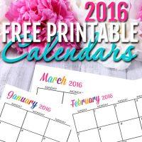 Sarah Titus free printable 2016 Calendars