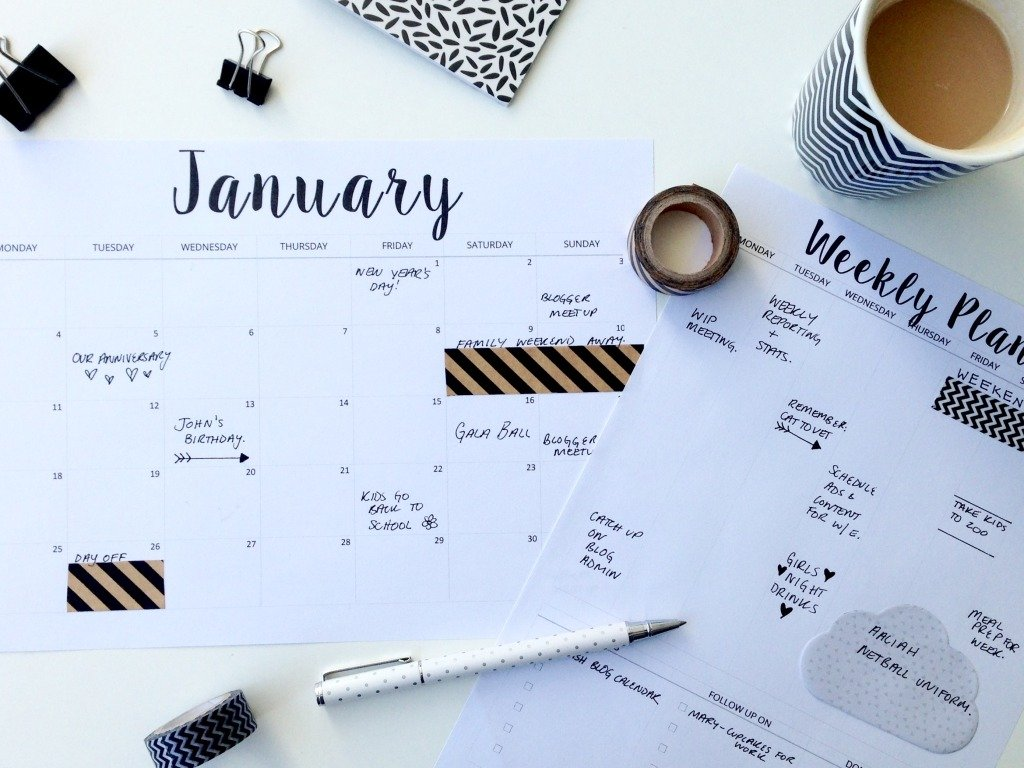 FREE Printable 2016 Planners & Calendars - Sparkles of Sunshine