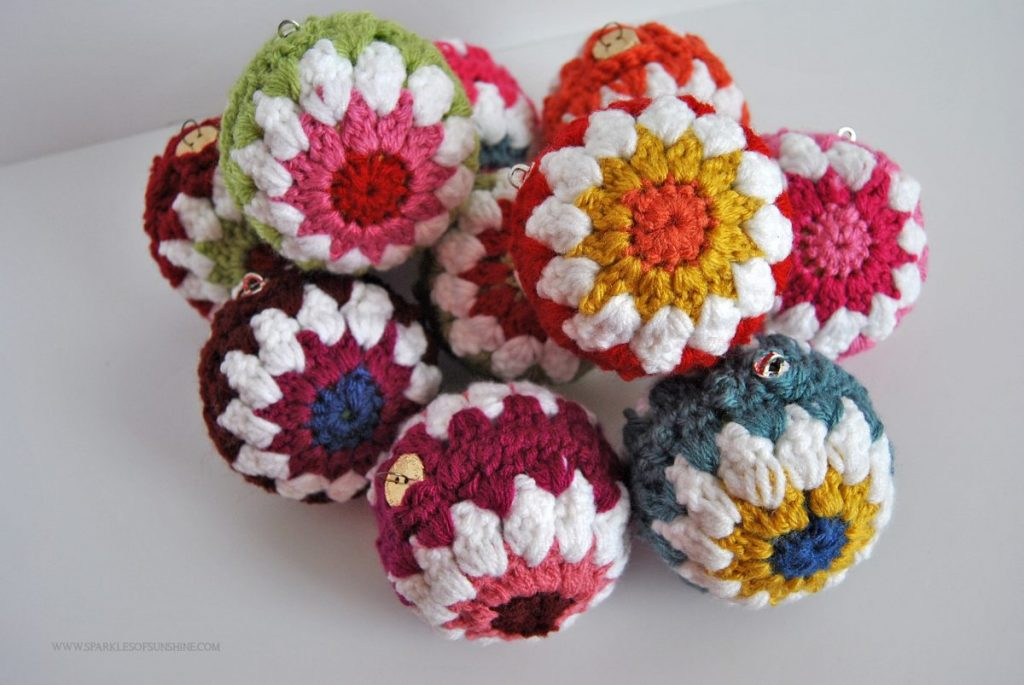 Crocheted Christmas Ball Ornaments Free Pattern - Sparkles ...