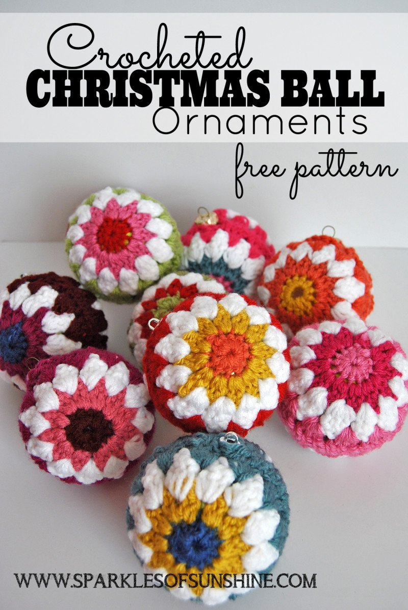 Crocheted Christmas Ball Ornaments Free Pattern - Sparkles of Sunshine