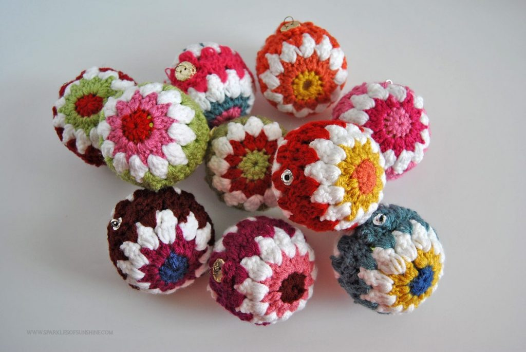 have fun decorating for the holidays with color these crocheted christmas ball ornaments are easy