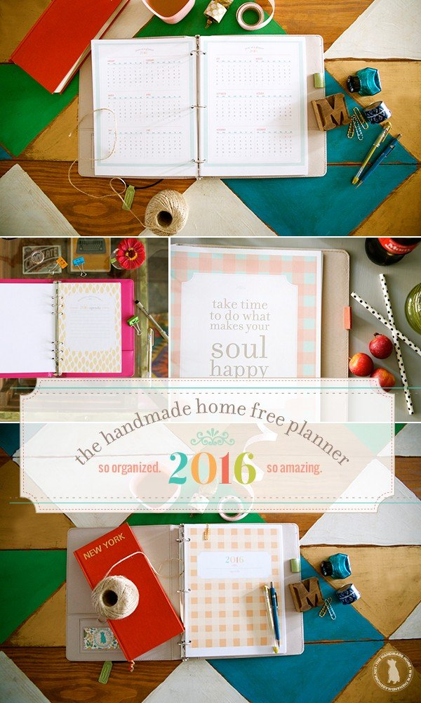 The Handmade Home Free 2016 Planner