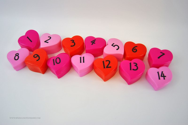 Upcycled Valentine's Day Countdown - Sparkles of Sunshine