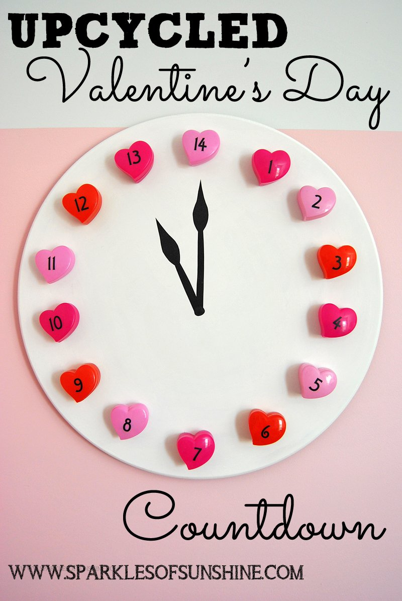 upcycled valentine's day countdown - sparkles of sunshine, Ideas