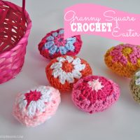 Make these darling granny square crochet Easter eggs with this free pattern!
