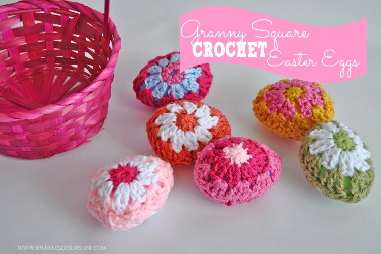 Granny Square Crochet Easter Eggs