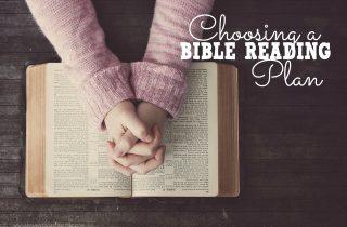Choosing a Bible Reading Plan