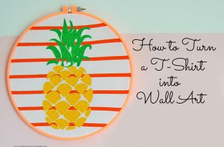 How to Turn a T-shirt into Wall Art