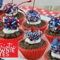 These patriotic brownie bites are the perfect treat for Memorial Day, 4th of July or any time you want to celebrate your American pride!