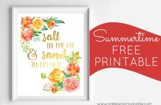 Summertime Free Printable