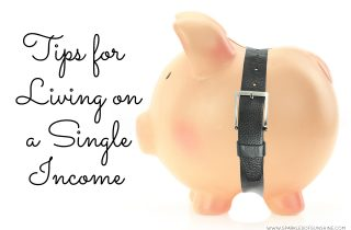 Tips for Living on a Single Income