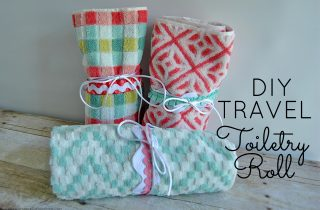 DIY Travel Toiletry Roll