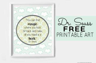 Dr. Seuss Free Printable Art