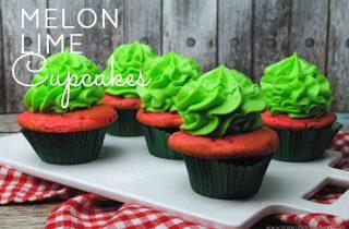Melon Lime Cupcakes