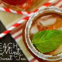 This Peach Mint Sweet Tea is the prefect refreshing beverage for summer. Dress up the old southern classic with the tasty flavors of peach and mint today...you'll be glad you did!