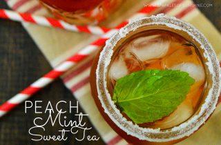 Peach Mint Sweet Tea
