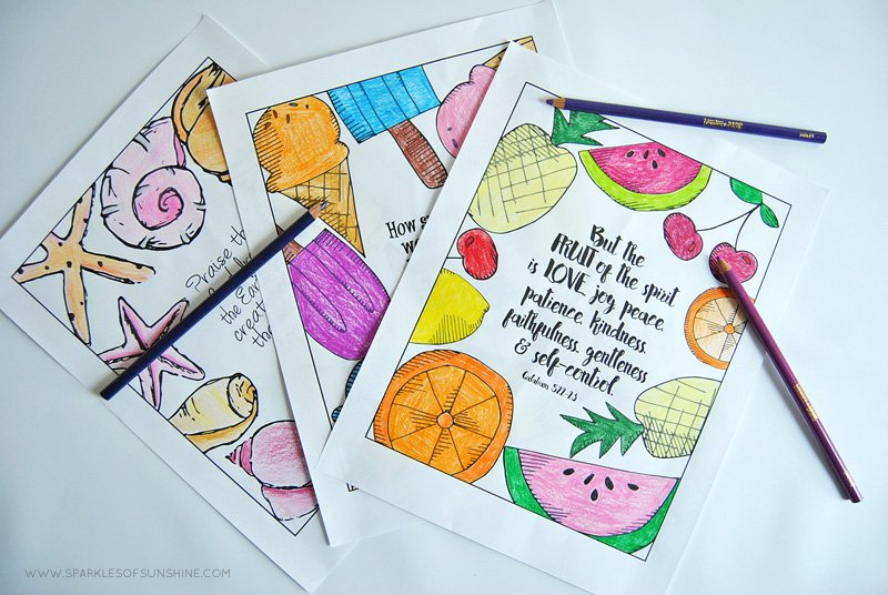 Want To Add A Little Color Your Life Print These Summer Inspired Free Coloring