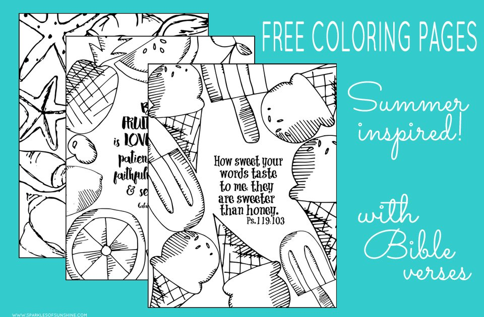 - Summer Inspired Free Coloring Pages With Bible Verses - Sparkles Of Sunshine