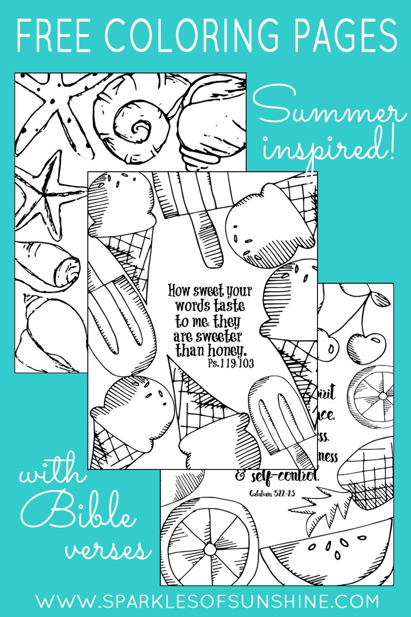 Summer Inspired Free Coloring Pages With Bible Verses