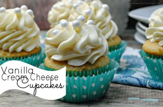 Ring in the New Year With Vanilla Cream Cheese Cupcakes