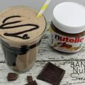 Dress up a simple banana smoothie with the rich taste of Nutella!