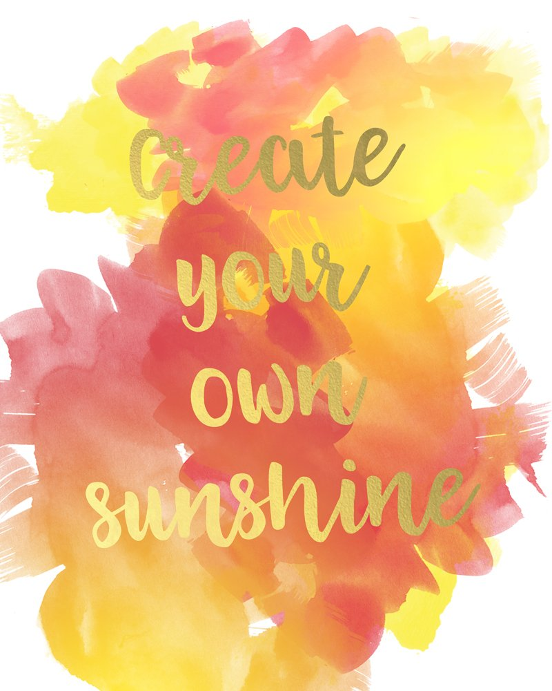 Create Your Own Sunshine Inspirational Free Printable - Sparkles ...